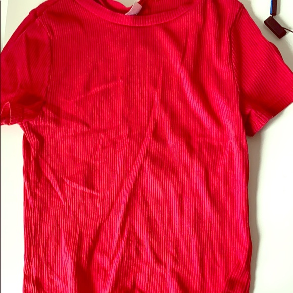 Divided Tops - red tight fitting top